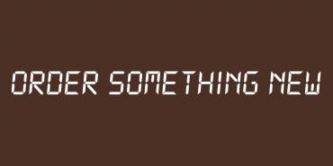 Order Something New